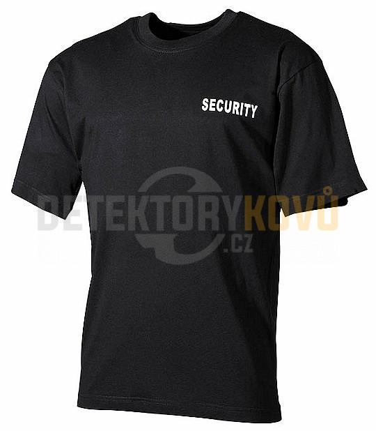 Tričko černé Security  25a23d0299
