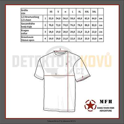 Tričko s krátkým rukávem Snow - Detektory kovů