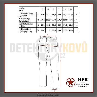Kalhoty Komando Rip Stop, olivové - Detektory kovů
