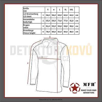 Taktická košile, HDT camo FG - Detektory kovů