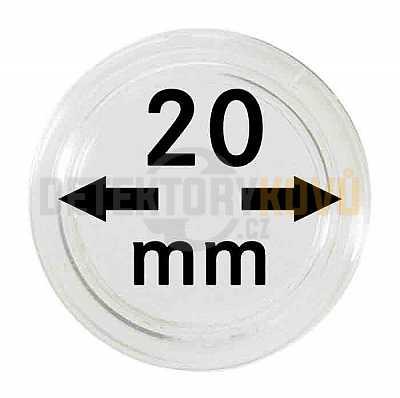 Kapsle na mince 20 mm - Detektory kovů