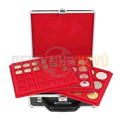 Malý kufřík na mince s podnosy - Detektory kovů