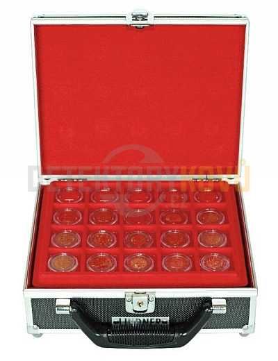 Malý kufřík na mince pro 100 mincí v kapslích - Detektory kovů