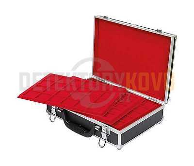 Velký kufřík na mince s 8 podnosy - Detektory kovů