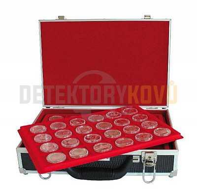 Velký kufřík na mince se 6 podnosy - Detektory kovů