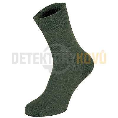 Termo ponožky MFH Merino zelené - Detektory kovů