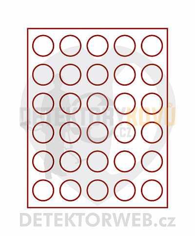 Kazeta na 30 mincí - průměr 37 mm 2161L - Detektory kovů