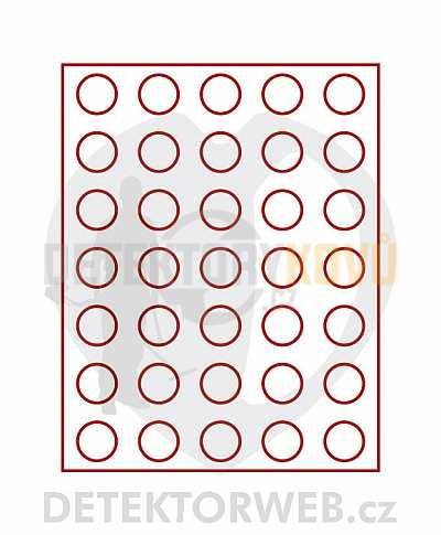 Kazeta na 35 mincí - průměr 31 mm 2104 - Detektory kovů