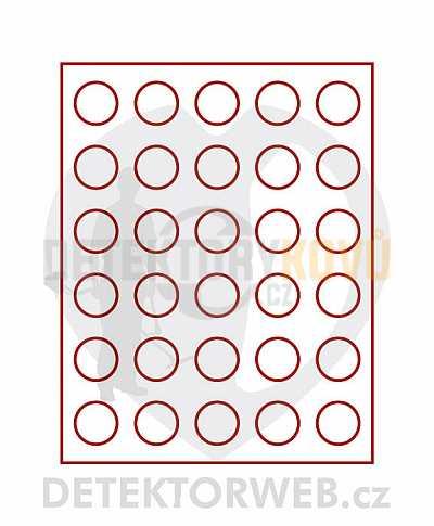 Kazeta na 30 mincí - průměr 34 mm 2150 - Detektory kovů