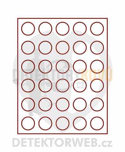 Kazeta na 30 mincí - průměr 36 mm 2101 - Detektory kovů