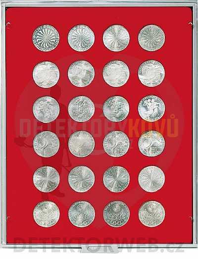 Kazeta na 24 mincí - průměr 32,5 mm 2110 - Detektory kovů