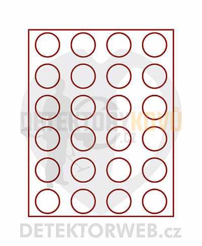 Kazeta na 24 mincí - průměr 41 mm 2160 - Detektory kovů