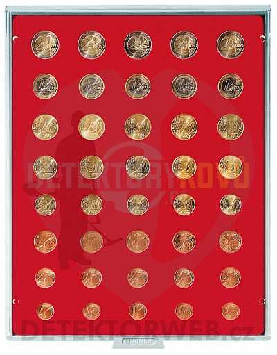 Kazeta na 40 mincí - různý průměr 2555 - Detektory kovů
