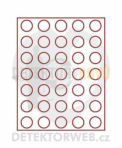 Kazeta na 35 mincí - průměr 32,5 mm 2111 - Detektory kovů