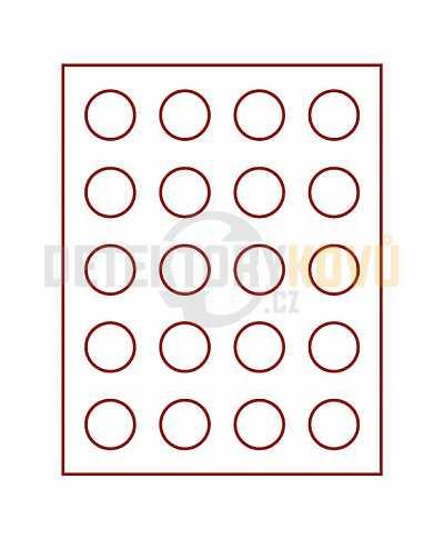 Kazeta na 20 mincí - průměr 38 mm 2102 - Detektory kovů