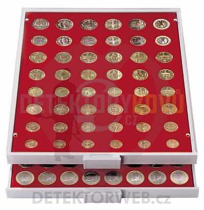Kazeta na 48 mincí (6x EURO SET) - různý průměr 2506 - Detektory kovů