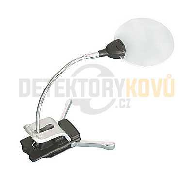Lupa Lindner s LED osvětlením a stojánkem - Detektory kovů