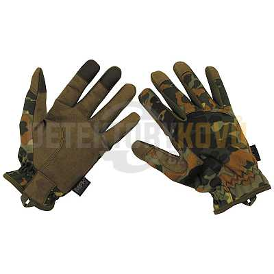Taktické rukavice BW CAMO - Detektory kovů