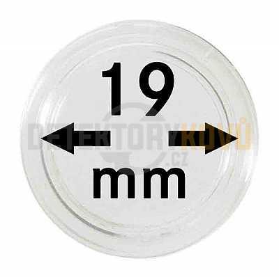Kapsle na mince 19 mm - Detektory kovů