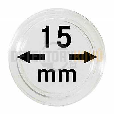 Kapsle na mince 15 mm - Detektory kovů