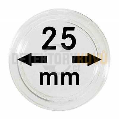 Kapsle na mince 25 mm - Detektory kovů