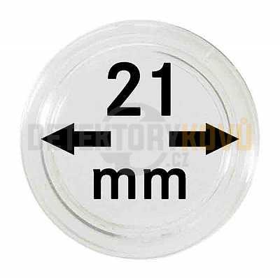 Kapsle na mince 21 mm - Detektory kovů
