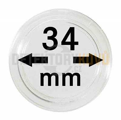 Kapsle na mince 34 mm - Detektory kovů