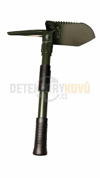 Lopatka skládací, 3 v 1, včetně pouzdra na opasek - Detektory kovů