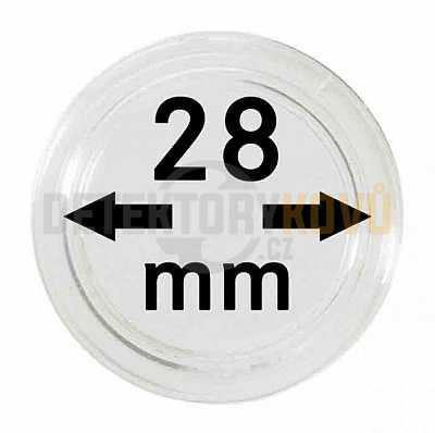 Kapsle na mince 28 mm - Detektory kovů