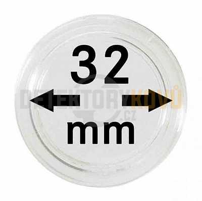 Kapsle na mince 32 mm - Detektory kovů