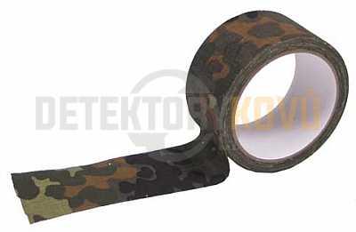 Maskovací lepící páska flecktarn, 5 cm x 10 m - Detektory kovů