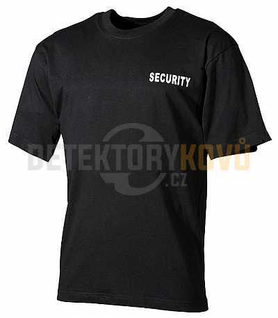 Tričko černé Security - Detektory kovů