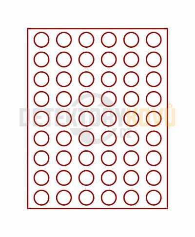 Kazeta na 54 mincí do průměru 25,75 mm - Detektory kovů