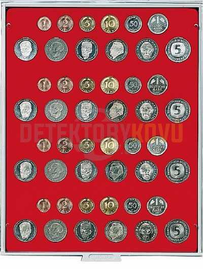 Kazeta na 4 sady německých mincí - 2204 - Detektory kovů