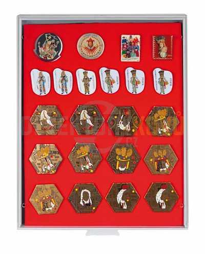 Sběratelská kazeta Lindner na odznaky, medaile 2417 - Detektory kovů