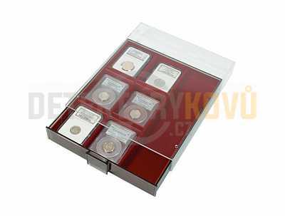 Sběratelská kazeta na nálezy 2463 s kouřovým sklem - Detektory kovů