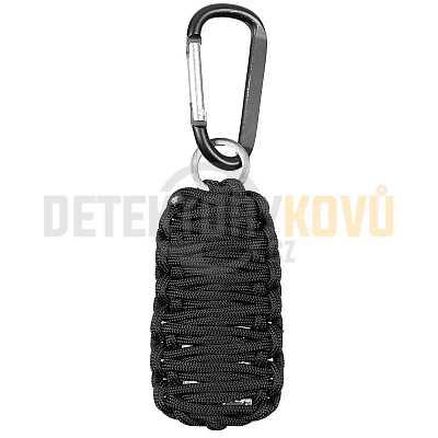 Survival Kit přívěšek paracord černý - Detektory kovů