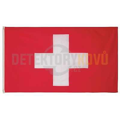 Vlajka Švýcarská , 150 x 90 cm - Detektory kovů