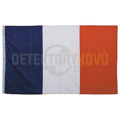 Vlajka Francouzská , 150 x 90 cm - Detektory kovů