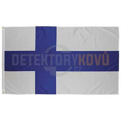 Vlajka Finská, 150 x 90 cm - Detektory kovů