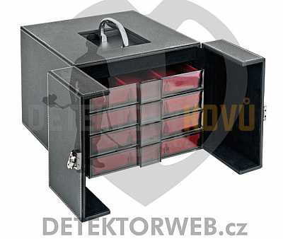 Přenosný box na mince Lindner NERA MB 8 - Detektory kovů