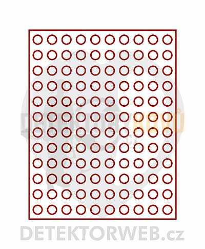 Kazeta na 120 mincí - průměr 16,5 mm 2501 - Detektory kovů
