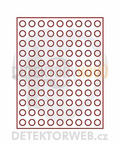 Kazeta na 99 mincí - průměr 19,25 mm 2502 - Detektory kovů