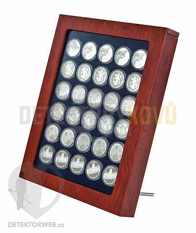 Rám na mincovní kazety Linder - imitace dřeva s kazetou - Detektory kovů
