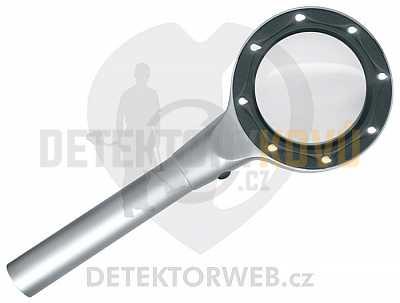 Lupa Lindner s LED osvětlením a hliníkovým rámem - Detektory kovů