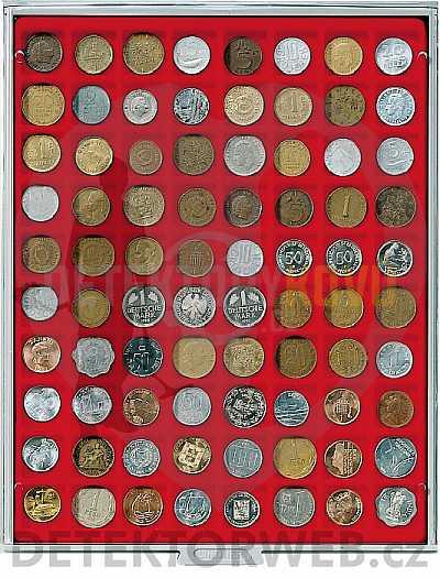 Kazeta na 80 mincí - průměr 24 mm 2180 - Detektory kovů