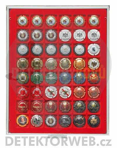 Kazeta na 48 víčka od šamaňského 2148F - Detektory kovů