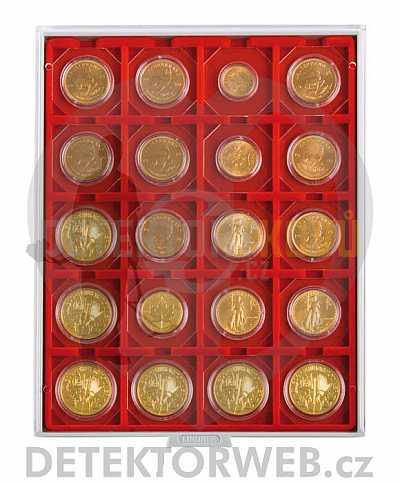 Kazeta na 20 mincí - průměr 50 mm 2122 - Detektory kovů