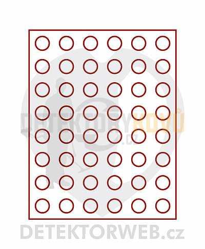 Kazeta na 48 mincí - průměr 24,25 mm 2549 - Detektory kovů
