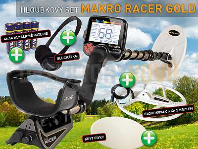 MAKRO RACER GOLD - hloubkový set - Detektory kovů